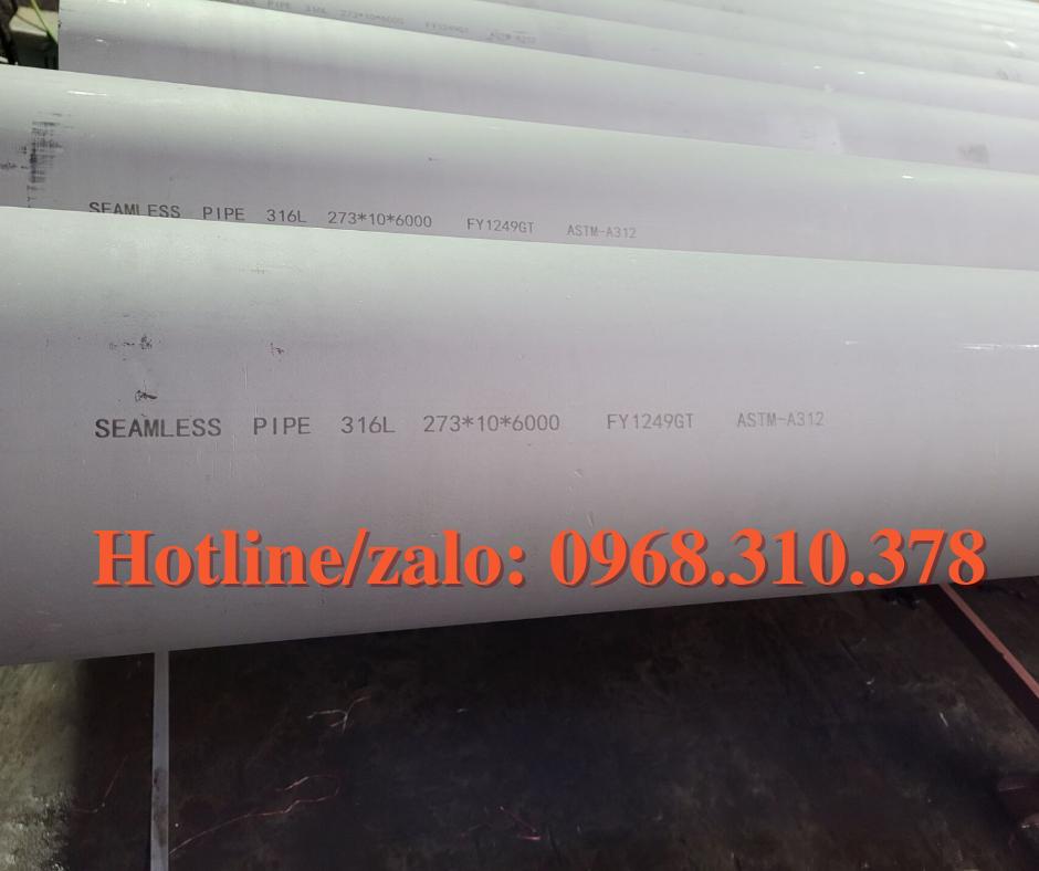 ỐNG ĐÚC INOX 316L KÍCH THƯỚC 273*10